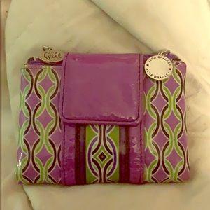 Vera Bradley Purple Punch Floral Wallet (retired)